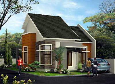 Desain rumah Modern minimalis posisi pojok