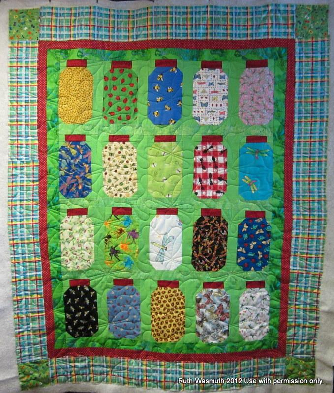 Threads of Mine: Janet's Bug Jar Quilt : bug quilt - Adamdwight.com