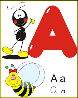 cartazes do alfabeto para sala de aula