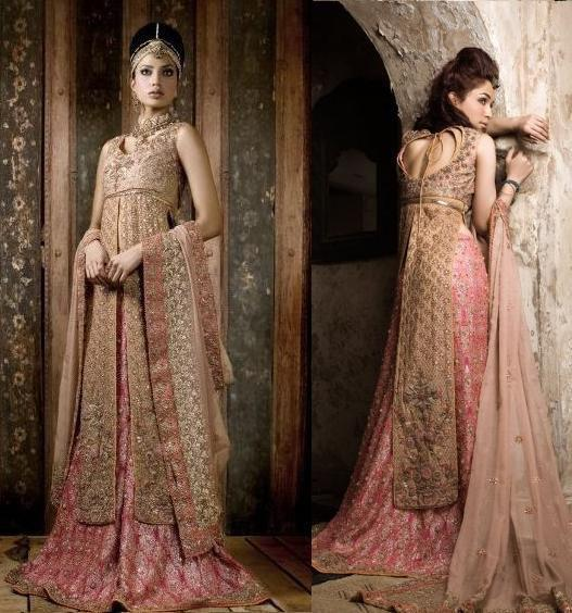 Latest trend of bridal dresses 2012 in pakistan for Current wedding dress trends