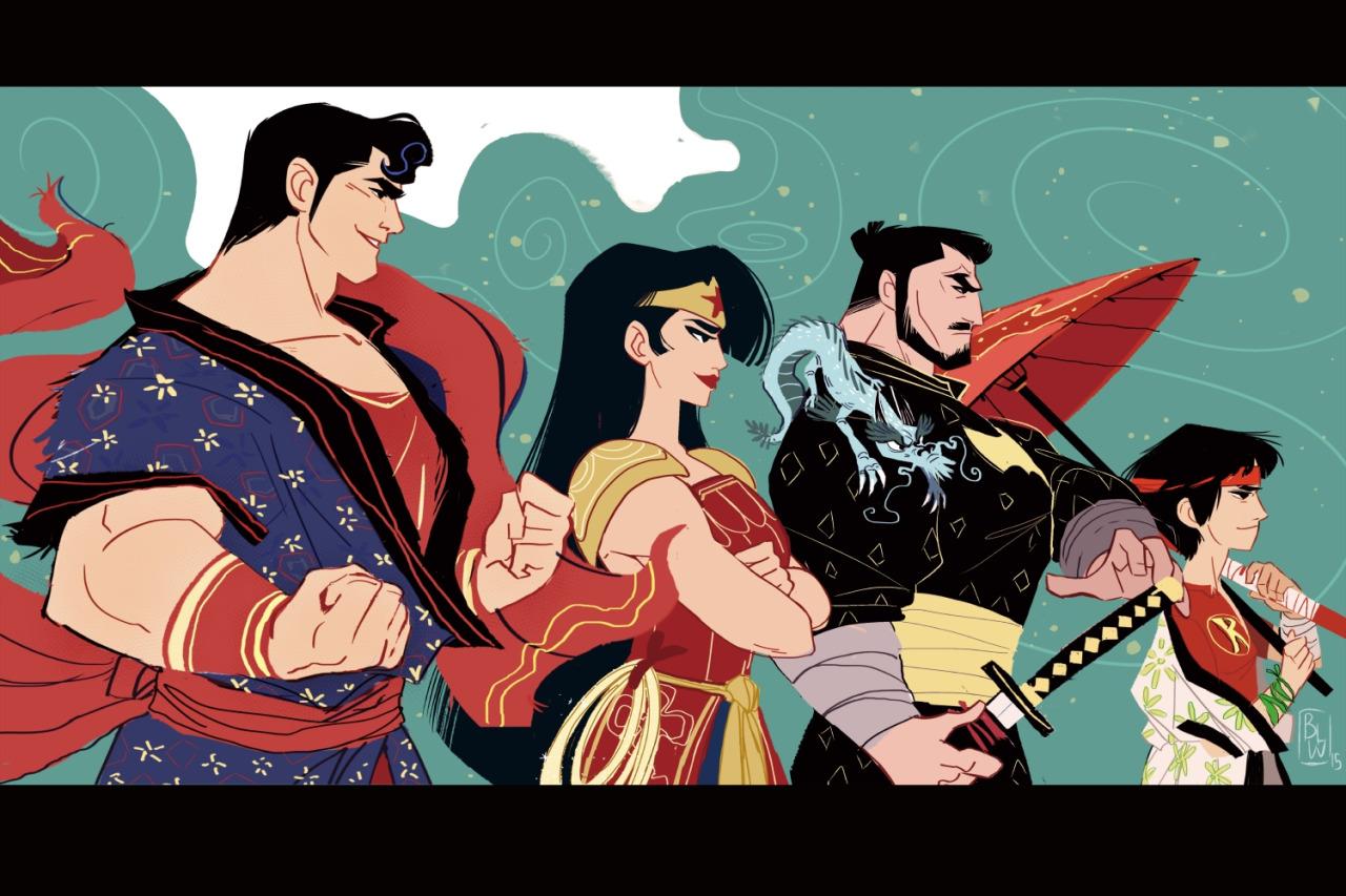 Japanese Superheroes dc dc Superheroes Reimagined in