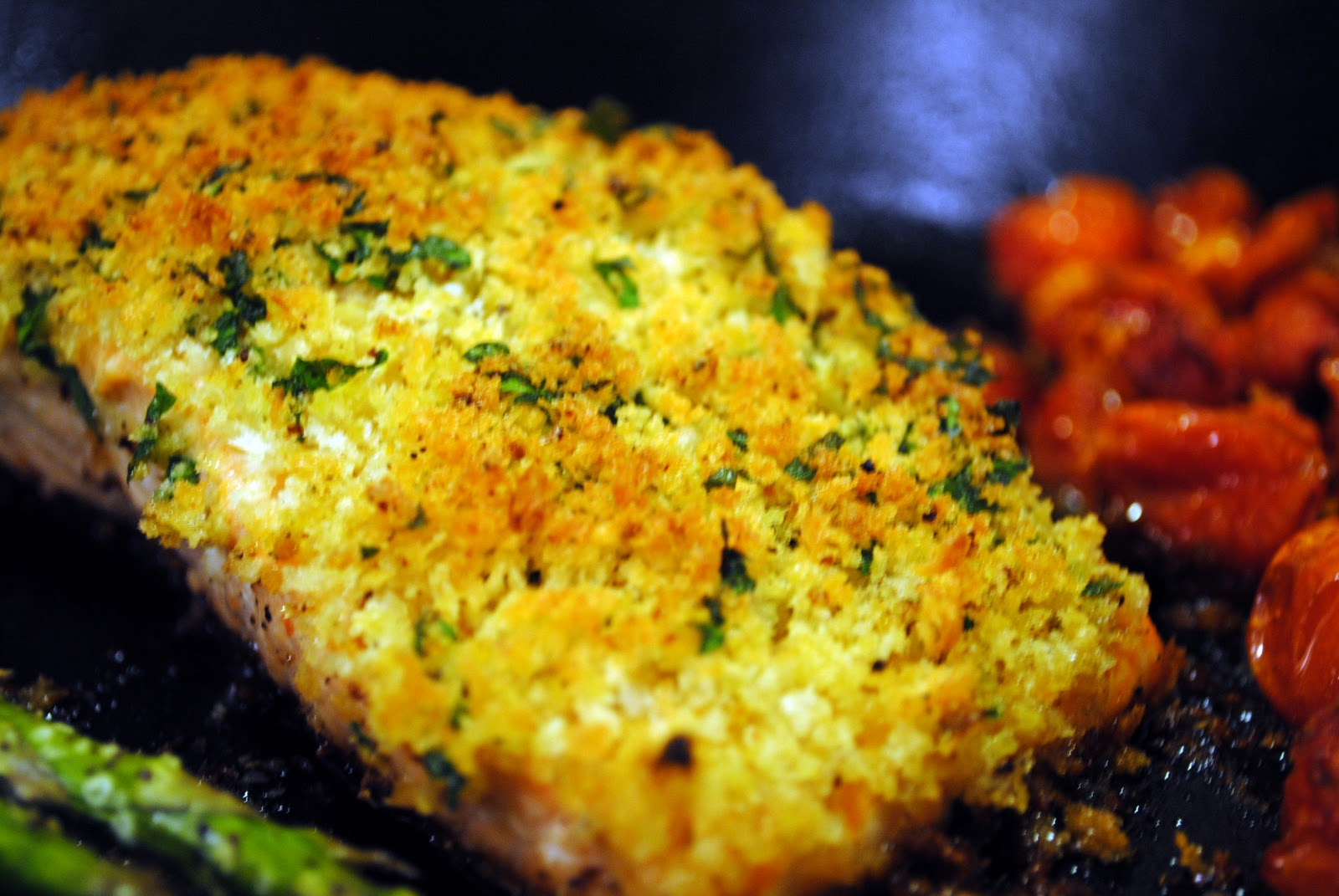 From Everyday to Gourmet: Herbed Panko-Crusted Salmon