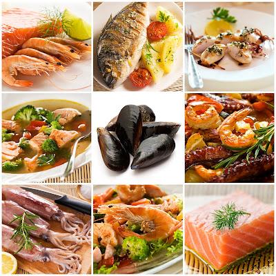 Comida del mar mariscos sea food