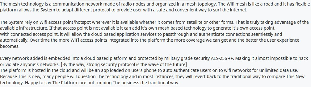 The Technology [MESH NETWORKING PROTOCOL]
