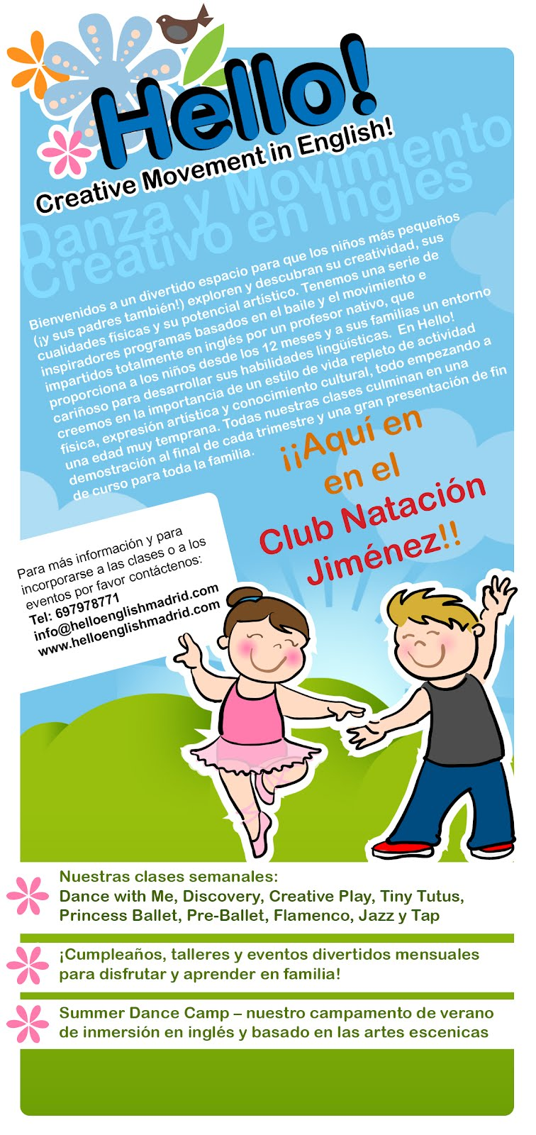 """English activities with the """"smalls""""- English with Dance for Children in Madrid"""