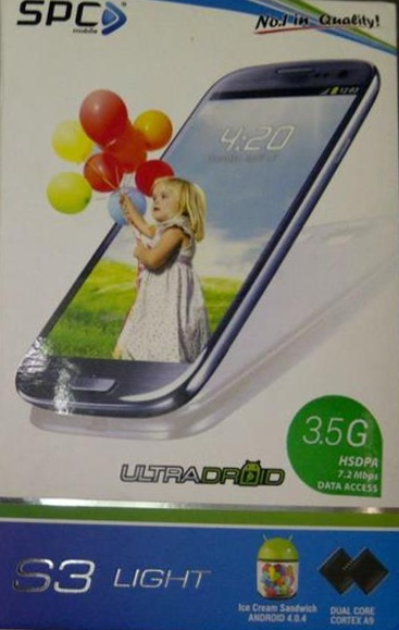 SPC S3 Light UltraDroid, Android ICS support 3.5G