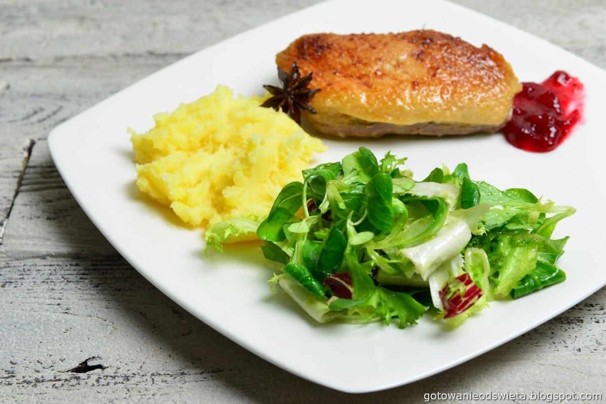 Pieczona pierś kaczki