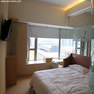 Habitación del Hotel Cosmo de Hong Kong