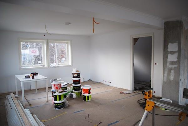 Linn og espens byggeblogg: stue og kjøkken