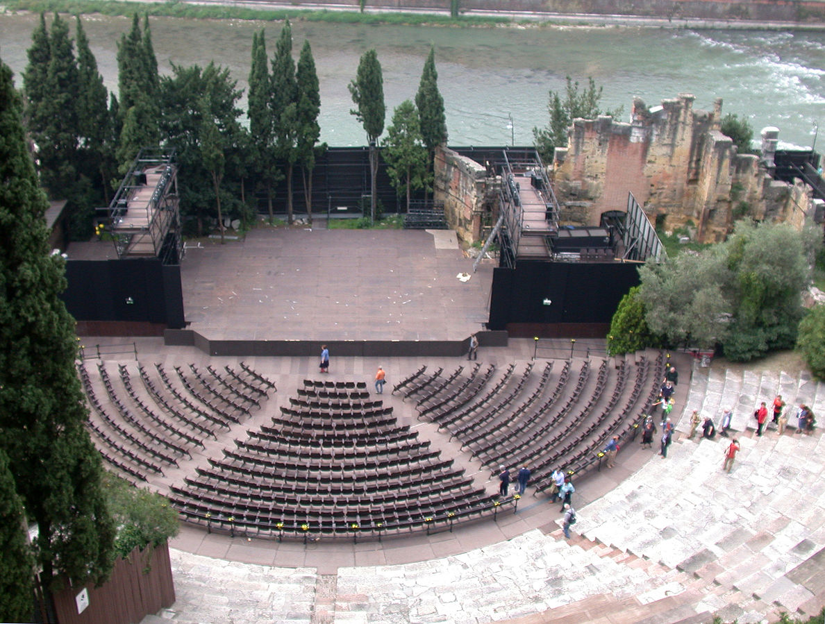 Roman Theatre in Verona is 2,000 years old but only recently discovered in the 19th century. Photo: WikiMedia.org.