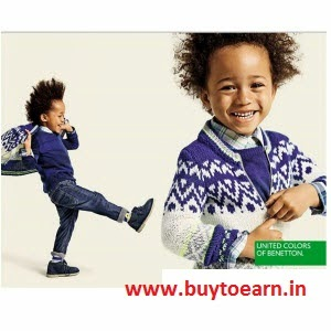 Jabong: Buy United Colors of Benetton Kids clothing minimum 55% off plus 30% off from Rs. 132