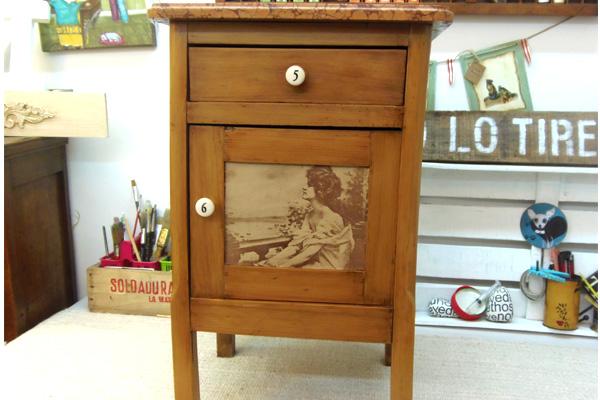 Cuchita bacana talleres de reciclado de muebles y for Como reciclar una mesa de televisor antigua