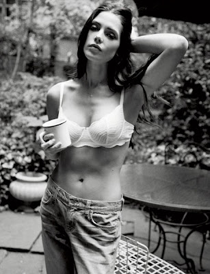 Ashley Greene in lacy lingerie in Esquire August 2012