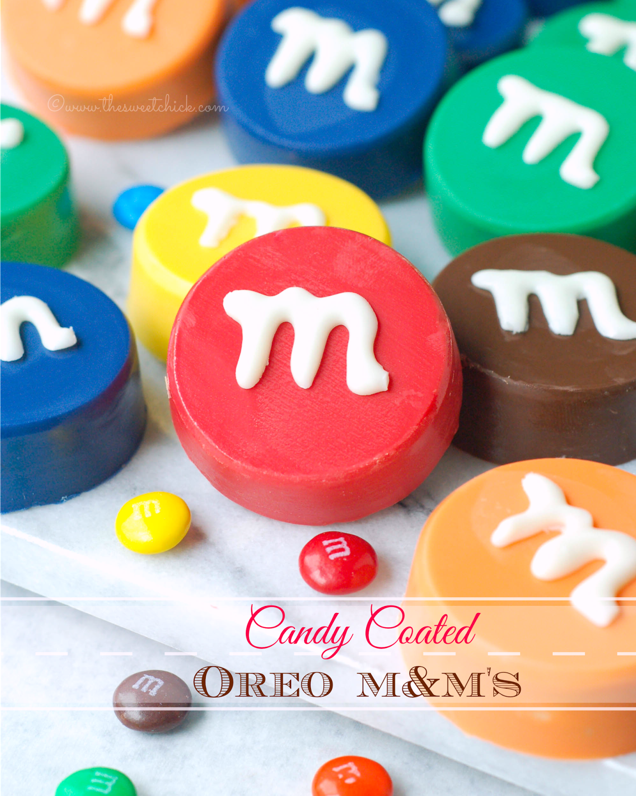 Candy Coated Oreo M&Ms by The Sweet Chick