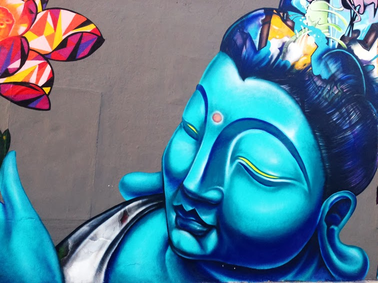 Giant big buddha Wynwood Miami Art Basel 2013
