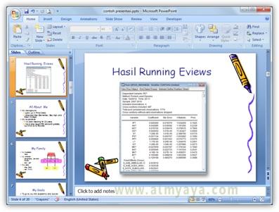 Gambar:  Contoh hasil screen capture yang ditampilkan dalam slide powerpoint