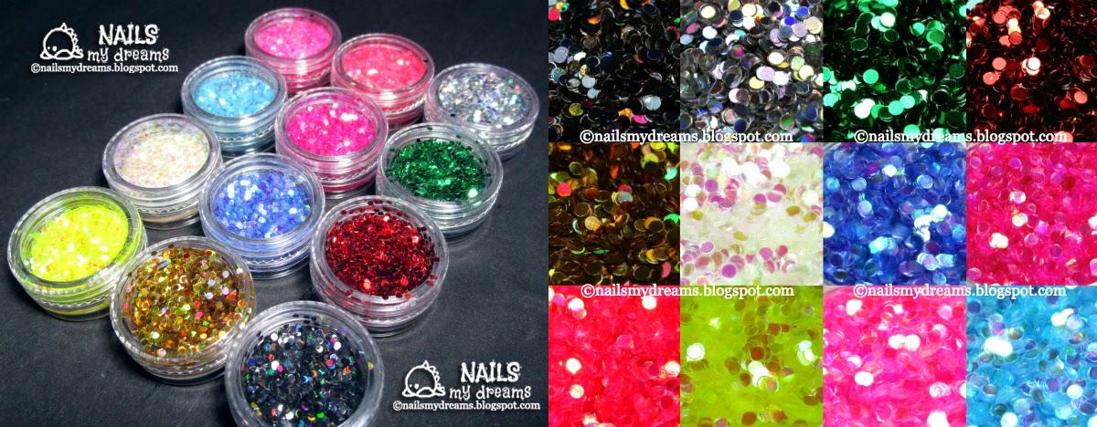 born pretty store round glitters set