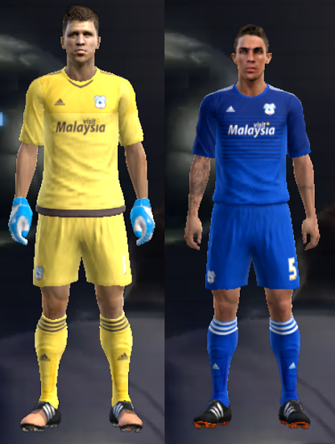 PES 2013 Cardiff City 15/16 Home & GK kits by vladroman