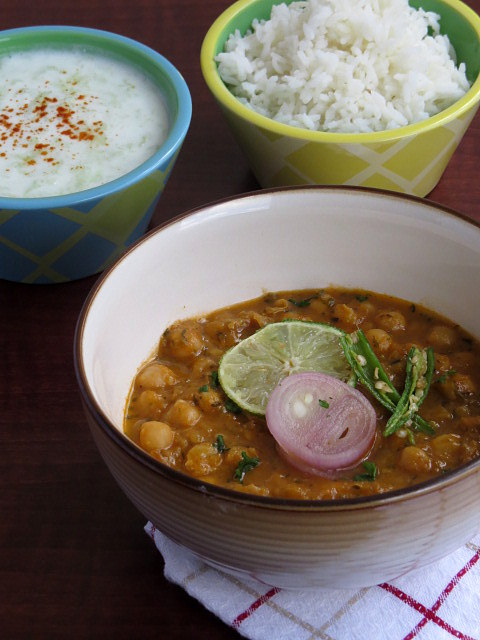 Chickpeas, gravy, indian