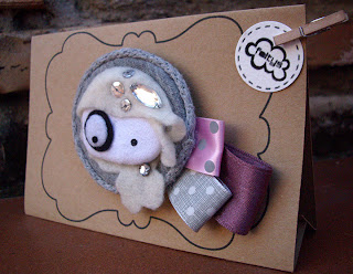 broche nude + packaging (100% handmade with ♥)