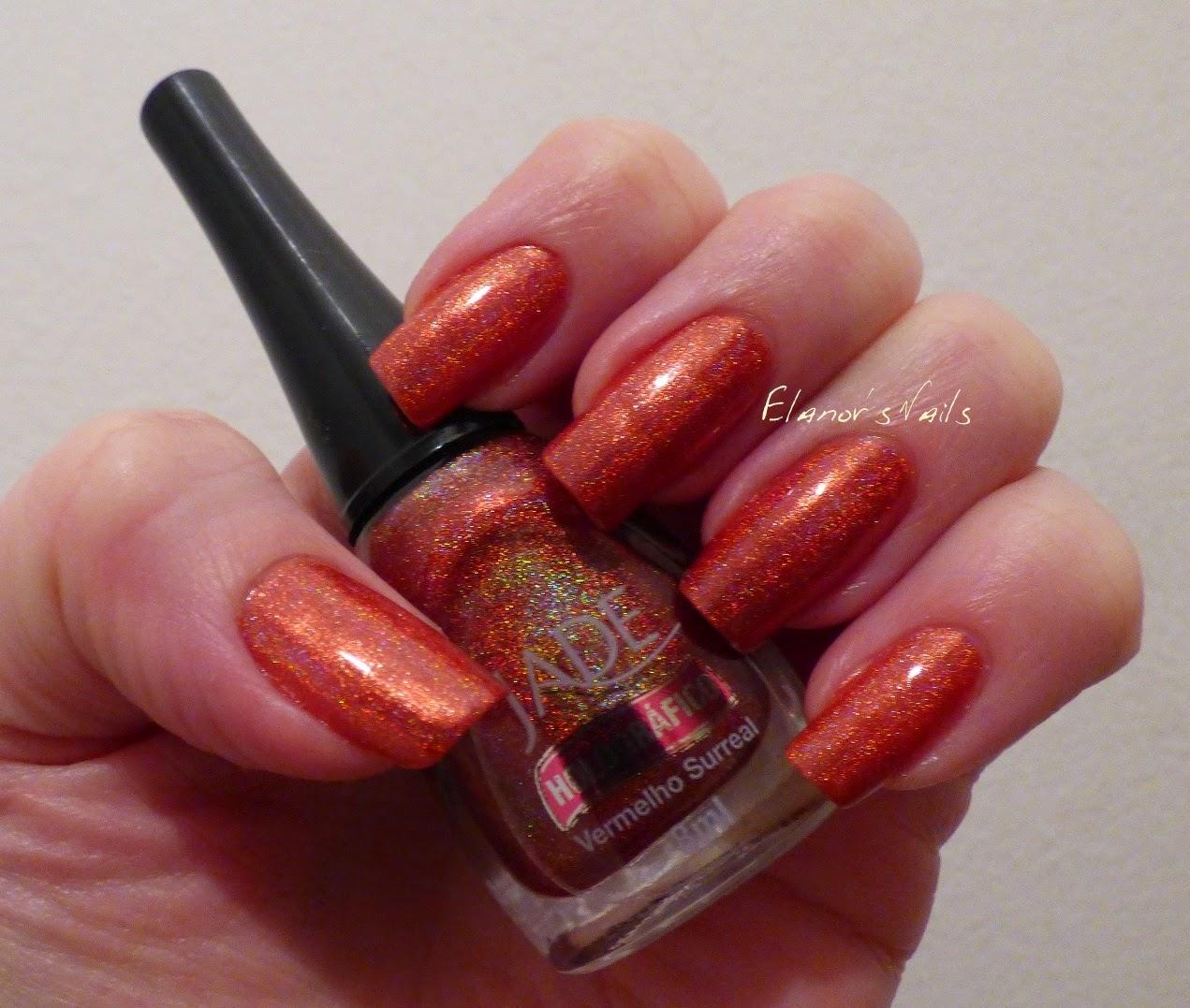 Elanor\'s Nails: Jade Vermelho Surreal - Red Holo