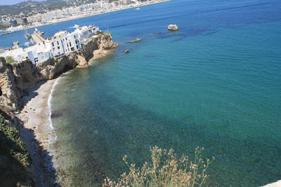 Beach in Ibiza from Dalt Vila