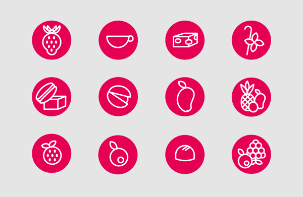 frozen yogurt factory icons