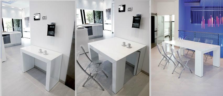 Tendencias en decoraci n dedicado a espacios peque os - Mesas para espacios pequenos ...