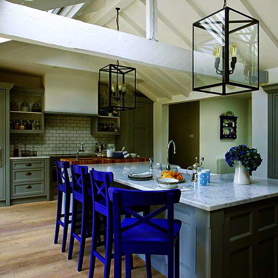 Green And Blue Style Kitchen