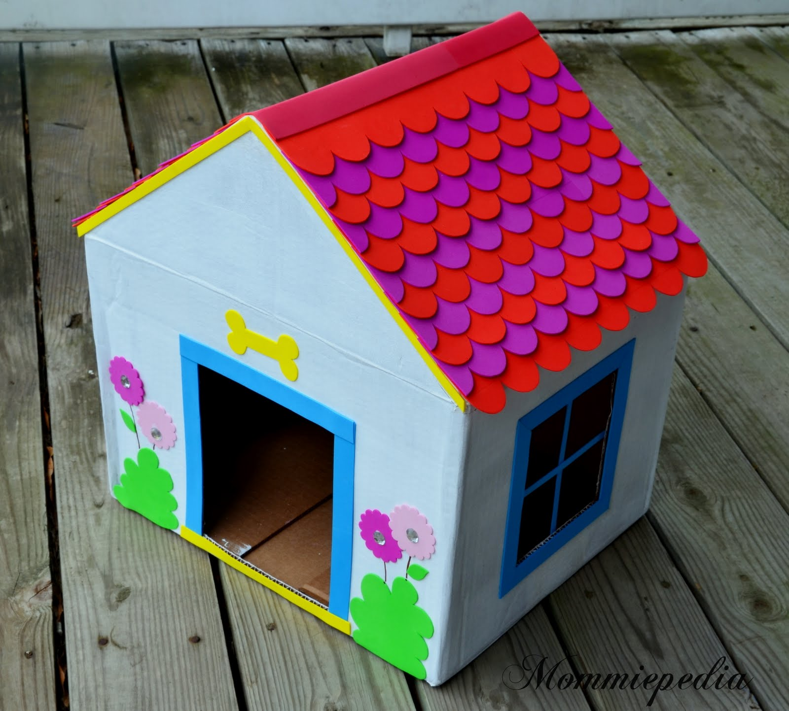 Dog House From A Recycled Box Photo Gallery