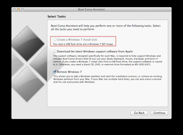 Windows απο BootCamp του MacOS X Lion