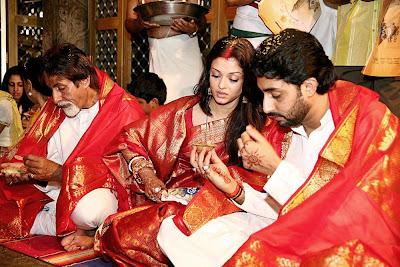 Aishwarya Rai Bollywood Star Wedding Photos 2012 13
