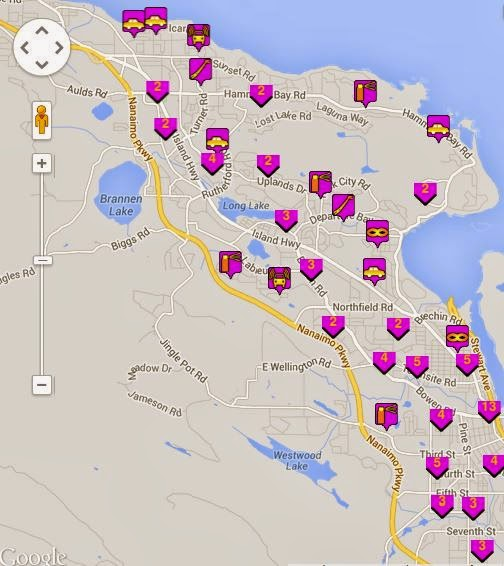 NanaimoInfoblog Nanaimo Property Crime Map