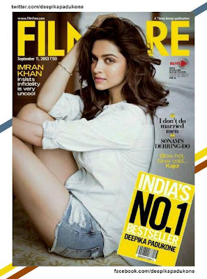Deepika Padukone on the September cover of Filmfare Magazine