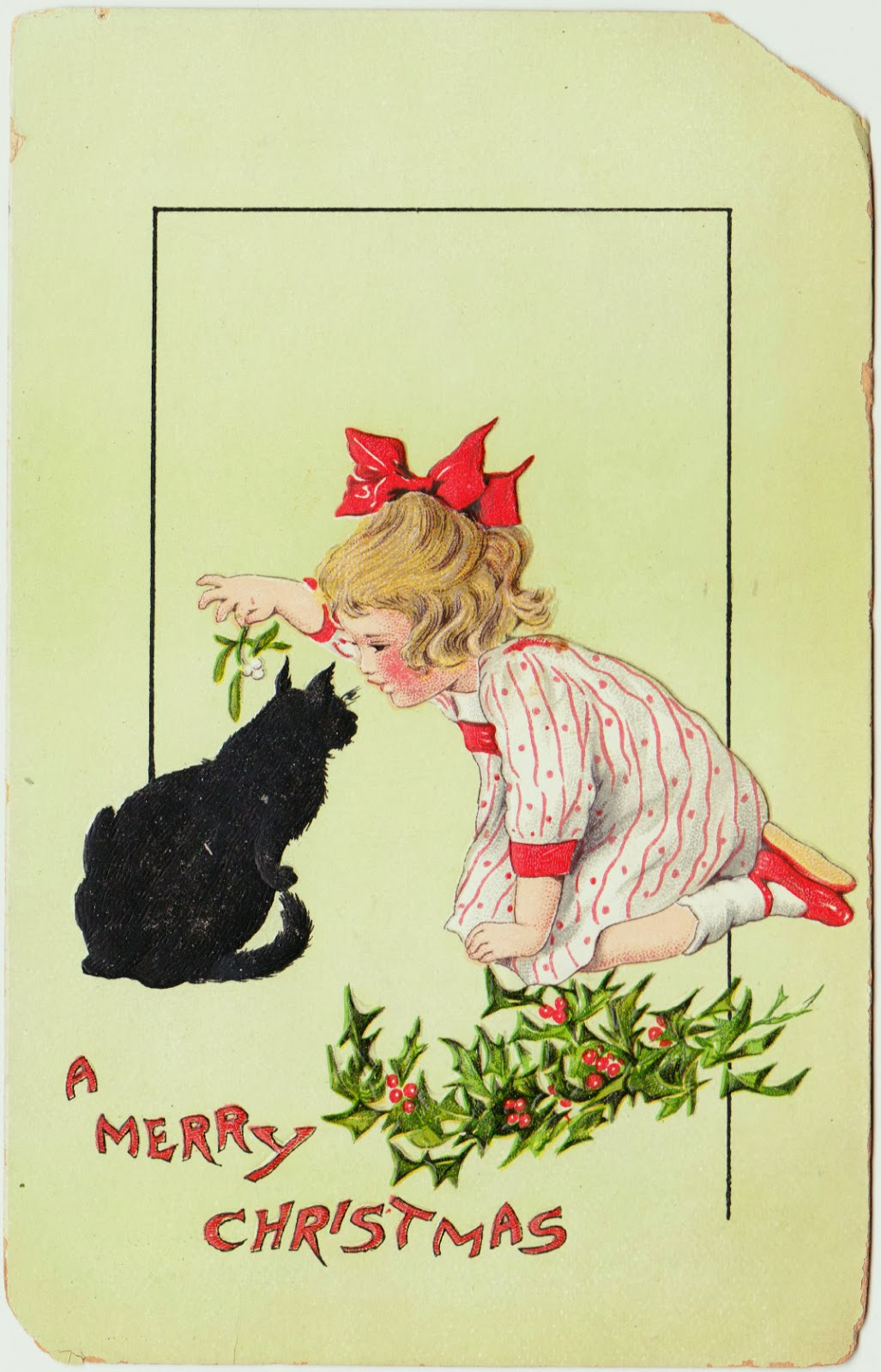 Papergreat: Cute vintage Christmas postcard, plus the famed Otto ...