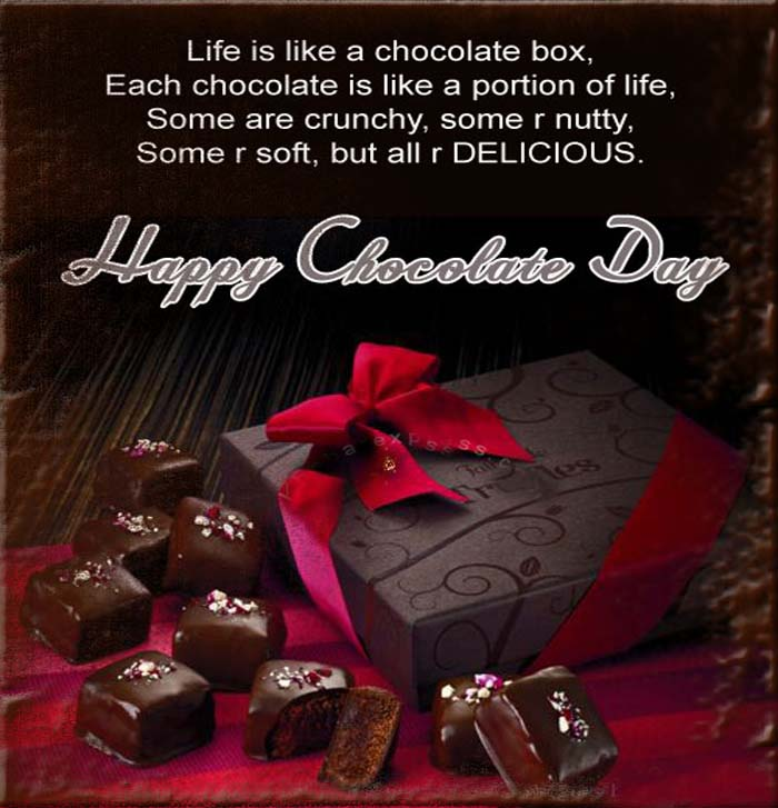 Happy Chocolate Day Messages, SMS and Whatsapp Status