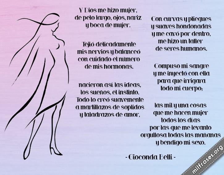 y dios me hizo mujer, poemas de gioconda belli, libros, día de la mujer