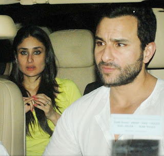 Kareena Kapoor with saif spotted together