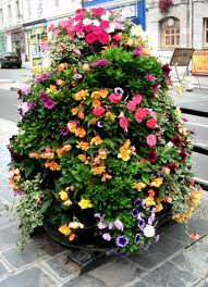 How to Make a Flower Tower Vertical Garden