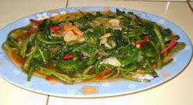 Resep Praktis (mudah) sayur kangkung saus (saos) tiram enak