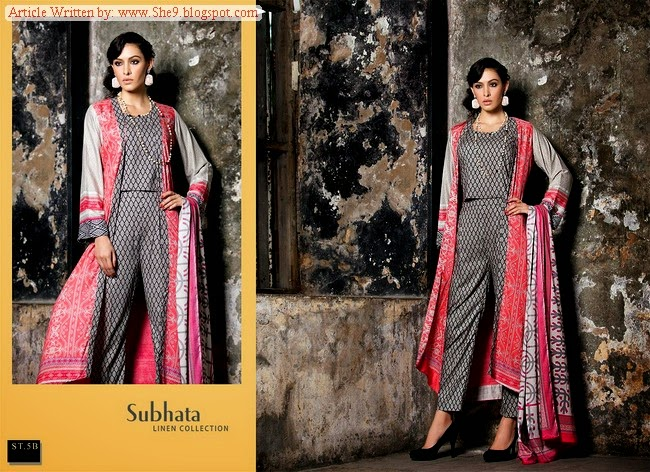 Subhata Linen Collection 2014-2015 by Shariq