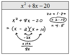 Worksheet Factoring X2 Bx C Worksheet openalgebra com factoring trinomials of the form x2 bx c this process used for is sometimes called guess and check or trial error biggest problem occurs when si