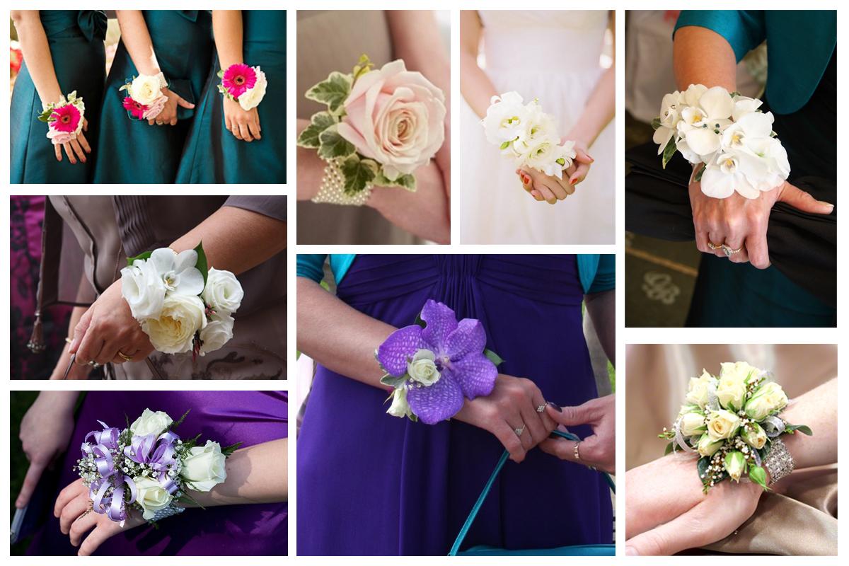Браслет на руку с цветами