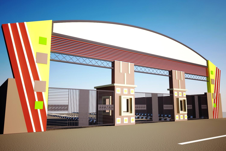 Entrance Gate Design Acp: Main Gate Design Home India The