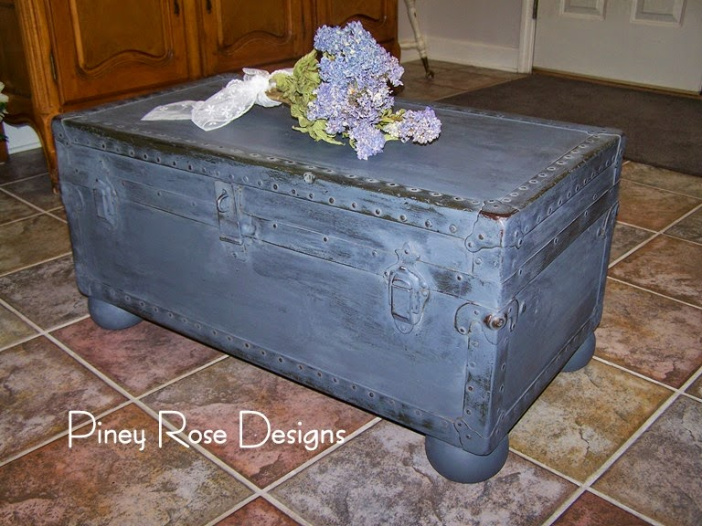 Superb Old Military Trunk Coffee Table