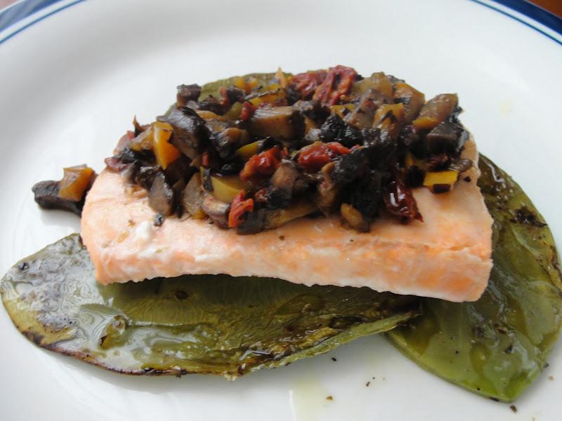 Disfruta cocinar salmon con pimiento y champi ones - Salmon con champinones ...