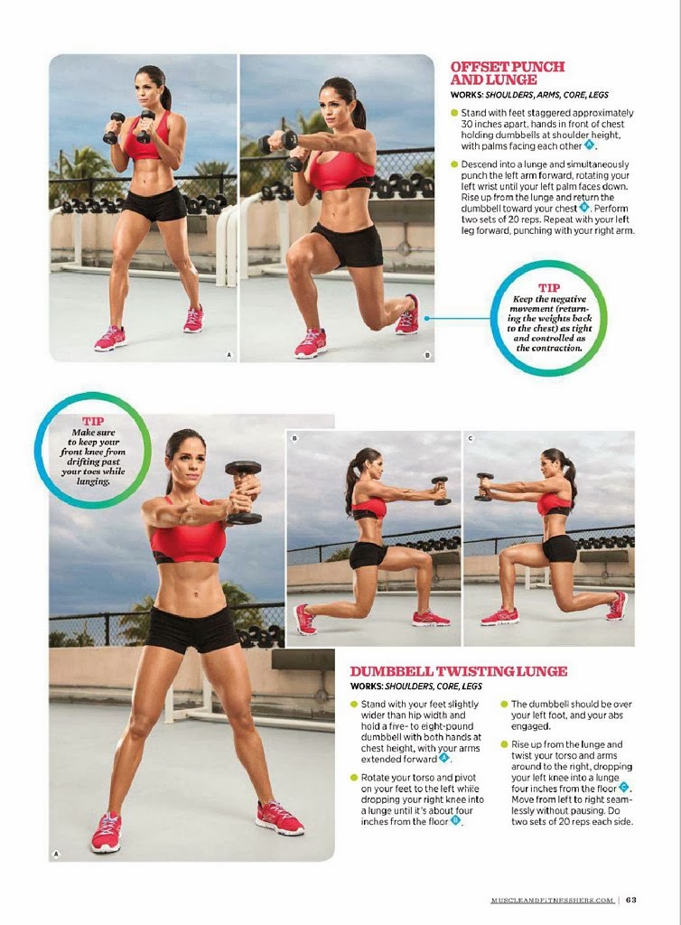Michelle Lewin HQ Pictures Muscle Fitness Hers Magazine Photoshoot March / April 2014