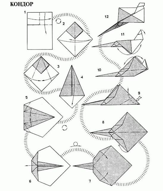 Инструкция бумажных самолетиков