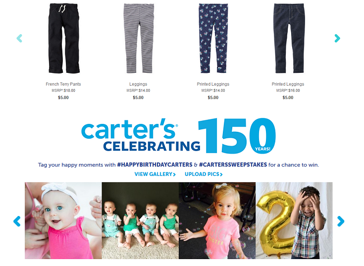 Celebrate Carter's 150th Birthday + Enter to Win a $150 Gift Card! #HappyBirthdayCarters