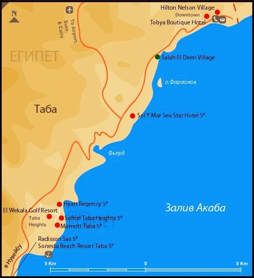 Taba Egypt map